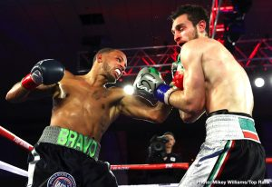 """Rob Brant -  Rob """"Bravo"""" Brant crashed the world boxing scene last October with a dominant decision over Ryota Murata to win the WBA middleweight title. For title defense number one, he returned to his home state and sent the partisan crowd home happy."""