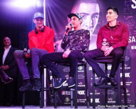 Leo Santa Cruz, Rafael Rivera - There was no love lost on Valentine's Day in Los Angeles as fighters competing on Saturday's Premier Boxing Champions on FOX and FOX Deportes exchanged words and went face-to-face at the final press conference before their respective showdowns this Saturday night at Microsoft Theater at L.A. Live.
