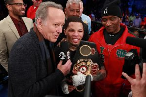 Eddie Hearn, Gervonta Davis, Leonard Ellerbe, Mayweather Promotions, Tevin Farmer - Matchroom Boxing USA promoter Eddie Hearn isn't pleased that Gervonta 'Tank' Davis has vacated his WBA super featherweight title, and moved up to lightweight without fighting IBF champ Tevin Farmer. It was a doable fight, but Hearn didn't offer Gervonta the type of money he was looking to get.