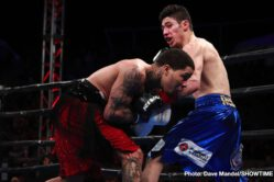"Gervonta ""Tank"" Davis, Hugo Ruiz - Gervonta Davis defended his WBA Super Featherweight World Championship with a thrilling first-round TKO of former world champion Hugo Ruiz before a sellout crowd of 8,048 at Dignity Health Sports Park Saturday non SHOWTIME."