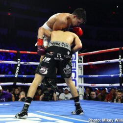 """Jose Zepeda, Raymundo Beltran - Jose Ramirez was faced with the toughest test of his career. Jose """"Chon"""" Zepeda was slick, slippery, and would not give in. But it was a late rally in the championship rounds that pushed Ramirez (24-0, 16 KOs) to a majority decision victory as he retained his WBC super lightweight title for the second time in front of 14,034 screaming fans at the Save Mart Center."""
