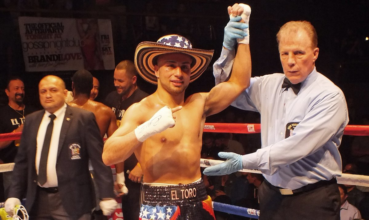 """- While Long Island has had its share of dreams and boxing prospects, Bellport has its latest. While many new boxers talk about the major transition from the amateurs to the pro ranks, a large contingent of the newcomers often make a point of all the sacrifices they have to make, but Bellport, Long Islands Alex """"El Toro"""" Vargas sees it in a different light."""