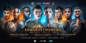 """Jason Quigley - Charlie Edwards admits his ultimate ambition is to become """"an all-time great in British boxing"""" as he begins his WBC World title reign against Spain's Angel Moreno at London's Copper Box Arena on March 23, live on Sky Sports in the UK and DAZN in the US."""