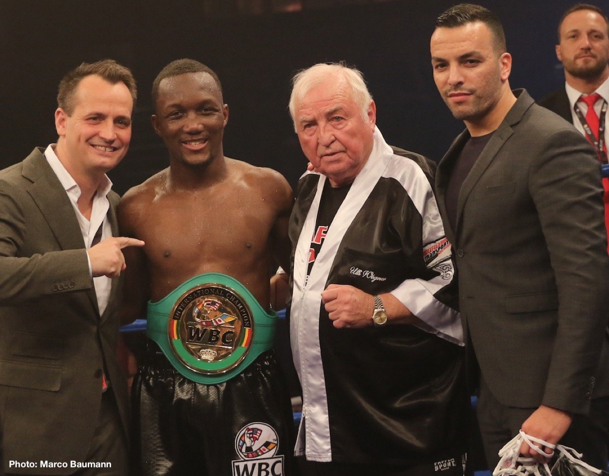 Carlos Molina - BARAOU DEFEATS MOLINA TO CLAIM WBC INTERNATIONAL TITLE - Abass Baraou (5-0, 2 KOs) claimed the WBC International Super Welterweight title with a unanimous points decision against Carlos Molina (29-11-2, 8 KOs) last night at the CGM Arena in Koblenz, Germany.