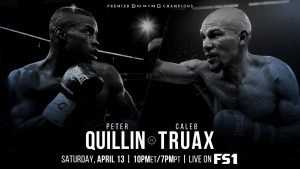 """Jack Culcay - Former world champions will go toe-to-toe as Peter """"Kid Chocolate"""" Quillin faces Minnesota-native Caleb """"Golden"""" Truax in a 12-round IBF super middleweight title eliminator that headlines Premier Boxing Champions on FS1 and FOX Deportes Saturday, April 13 from The Armory in Minneapolis."""