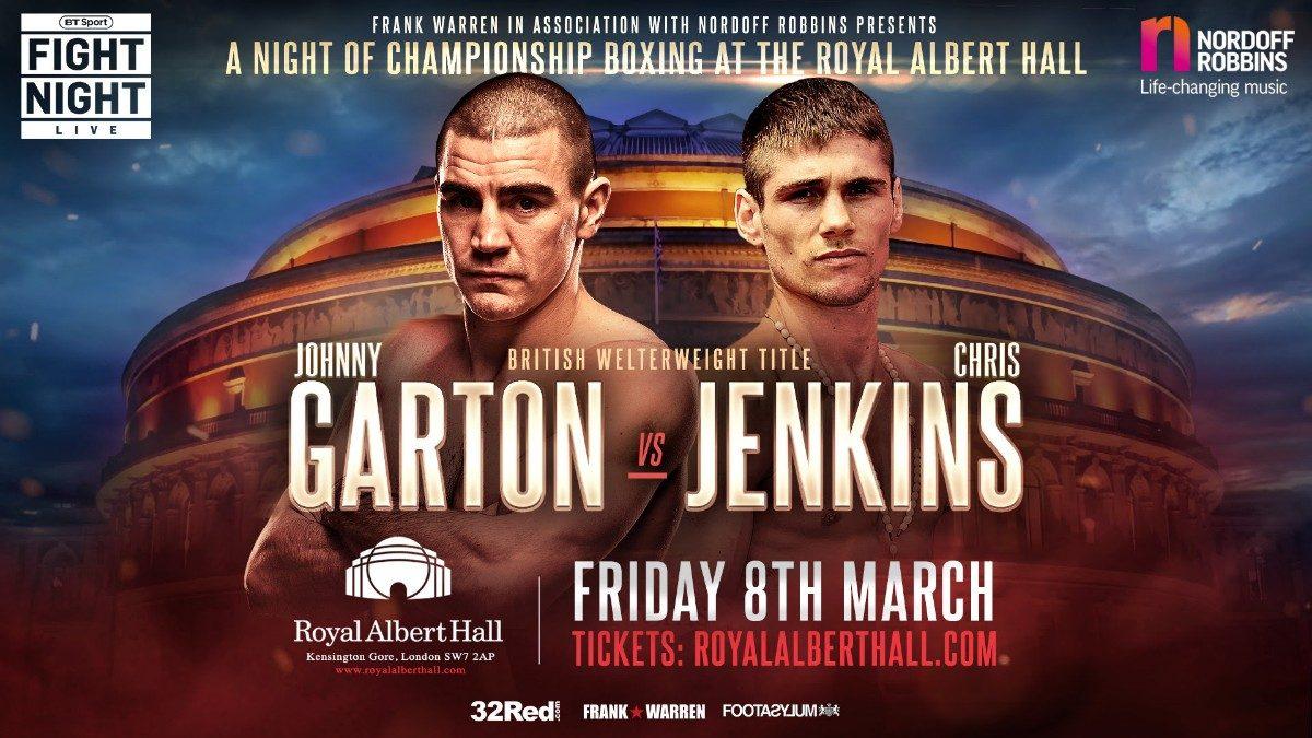 Chris Jenkins Johnny Garton British Boxing Press Room