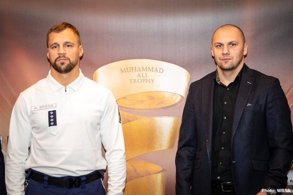 Krzysztof Glowacki, Mairis Briedis - Press Room