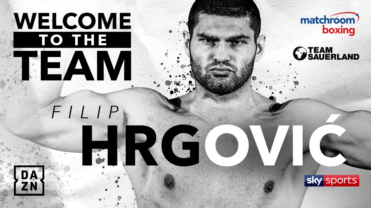 Filip Hrgovic - Filip Hrgović has signed a co-promotional deal with Matchroom Boxing and Team Sauerland, with his future fights to be screened exclusively live on DAZN in the US and Sky Sports in the UK.