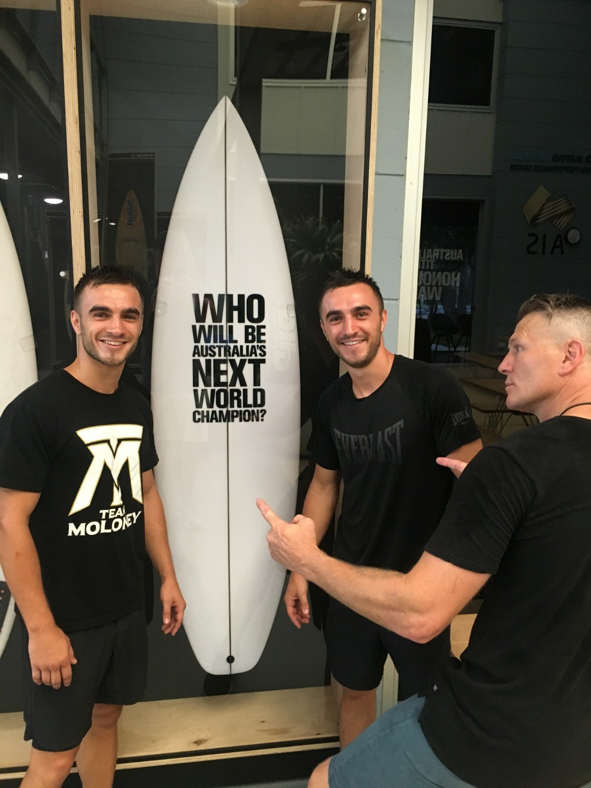 Andrew Moloney, Jason Moloney - Andrew Moloney and twin brother Jason Moloney took part in a week long Bell Partners high performance 5 day corporate training course with multi Time World Champion Danny Green and Australian cricketing icon Michael Clarke.