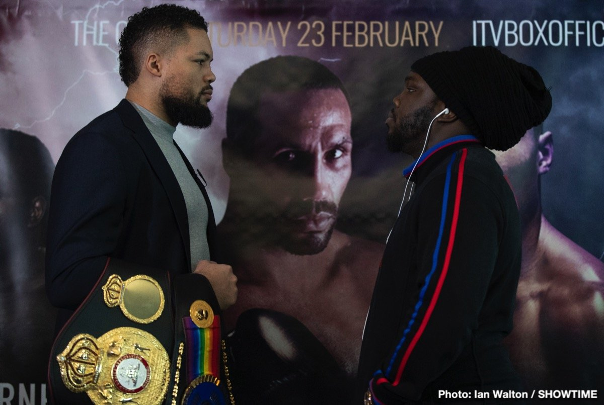 Bermane Stiverne - Undefeated heavyweight Joe Joyce and former heavyweight world champion Bermane Stiverne sounded off at the final press conference on Wednesday for their 12-round showdown that opens a SHOWTIME CHAMPIONSHIP BOXING doubleheader this Saturday live on SHOWTIME (3:45 p.m. ET/12:45 p.m. PT) from The O2 in London.