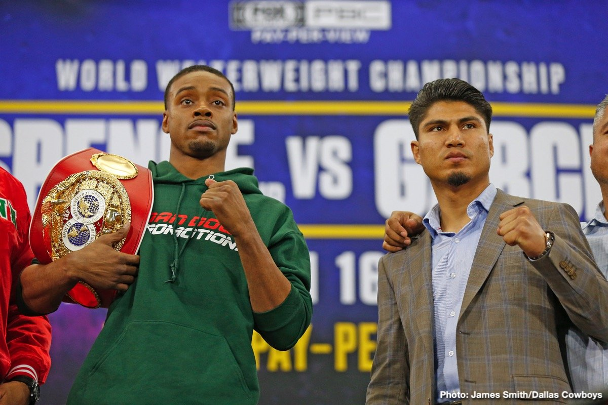 Errol Spence Jr., Mikey Garcia - On Saturday March 16, 2019, just outside of Dallas, Texas, the AT&T Stadium in Arlington, Texas, will be transformed into an over sized boxing venue. The main event will feature a highly anticipated showdown between the reigning IBF welterweight champion, and hometown favorite, Errol Spence Jr. 24-0 (21 ko's),  versus challenger, four weight divisional champion, Mikey Garcia 39-0 (30 ko's). Now that is as simple as the facts get, BUT, only if they were that simple...
