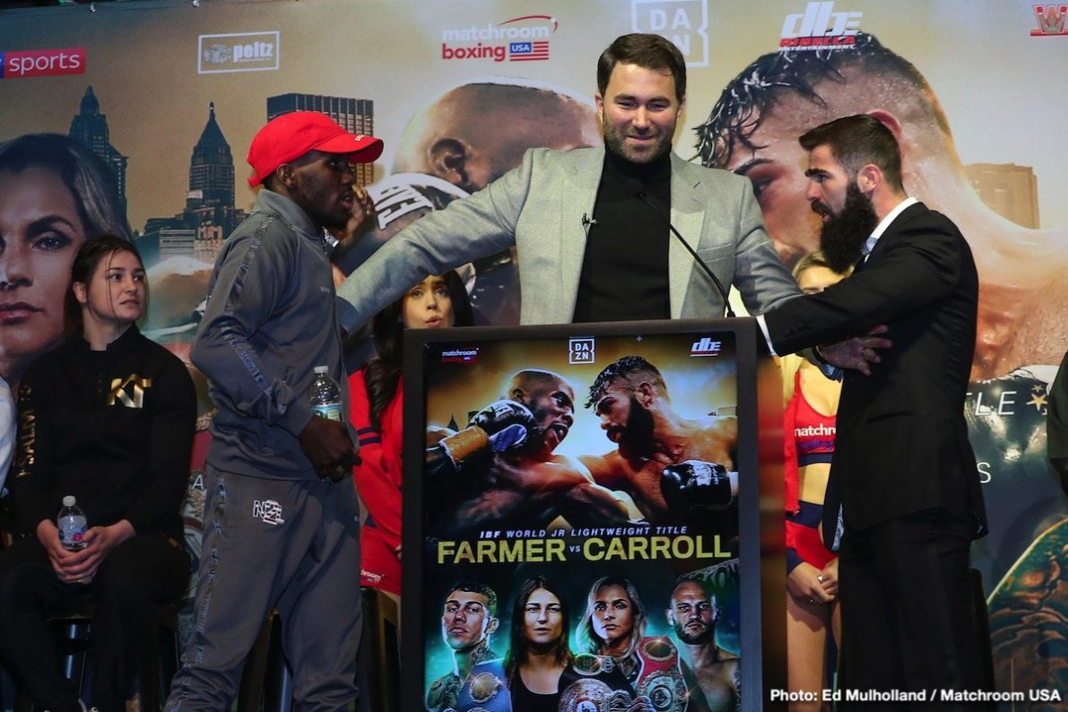 Jono Carroll Tevin Farmer Boxing News Top Stories Boxing