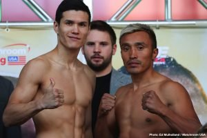 Daniyar Yeleussinov - 2016 Olympic Gold Medalist Daniyar Yeleussinov, (5-0, 3 KOs), heads into battle  tomorrow night, March 15 against battle-tested Mexican veteran Silverio Ortiz, (37-23, 18 KOs), in a scheduled eight-round welterweight bout at the Liacouras Center in Philadelphia, PA.