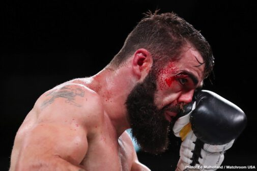 DAZN, Jono Carroll, Tevin Farmer - IBF super featherweight champion Tevin Farmer (29-4-1, 6 KOs) retained his title with a 12 round unanimous decision win over his tough as nails opponent Jono Carroll (16-1-1, 3 KOs) on Friday night on DAZN at the Liacouras Center, in Philadelphia, PA. These two warriors were like punching machines with their high volume offenses.