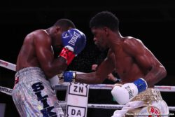 Maurice Hooker, Mikkel Lespierre -  Roc Nation Sports and Matchroom USA boxer Maurice Hooker (26-0-1, 17 KO's) successfully defended his title for the second time, dominating challenger Mikkel LesPierre (21-1, 10 KO's) by way of unanimous decision in a primetime bout broadcast on DAZN and Sky Sports at the Turning Stone Resort & Casino in Verona, N.Y. With this being Hooker's first fight of 2019, he has already proven he stands amongst the top contenders in the world and looks to return to his hometown of Dallas, Texas for his next big bout.
