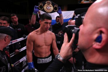 """Dmitry Bivol, Joe Smith Jr. -  Undefeated Dmitry Bivol successfully defended his WBA light heavyweight world title for the fifth time with a dominating twelfth round unanimous decision over Joe """"The Common Man"""" Smith Jr., in which he won almost every single round on all three judges' scorecards (118-110, 119-109, and 119-109)."""