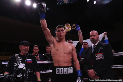 Dmitry Bivol, Joe Smith Jr. - WBA light heavyweight champion Dmitry Bivol (16-0, 11 KOs) came close to scoring a knockout in the final round, but he had to be content with winning a 12 round unanimous decision over the powerful Joe Smith Jr. (24-3, 20 KOs) on Saturday night on DAZN at the Turning Stone Resort Casino in Verona, New York. Bivol had Smith Jr. on the brink of being knocked out in the 12th round.