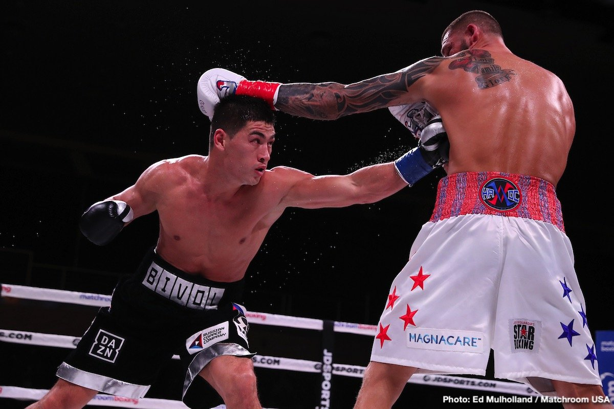 Joe Smith Jr. - Russian, WBA World Light Heavyweight champion, DMITRY BIVOL (now 16-0 11KO's) looked sharp in his fifth title defense against tough, union laborer, and Long Island's own JOE SMITH JR. (24-3 20KO's). Smith Jr. took the champion the full 12-rounds but the champion worked his way to a unanimous decision victory (118-110, 119-109 (x2)).