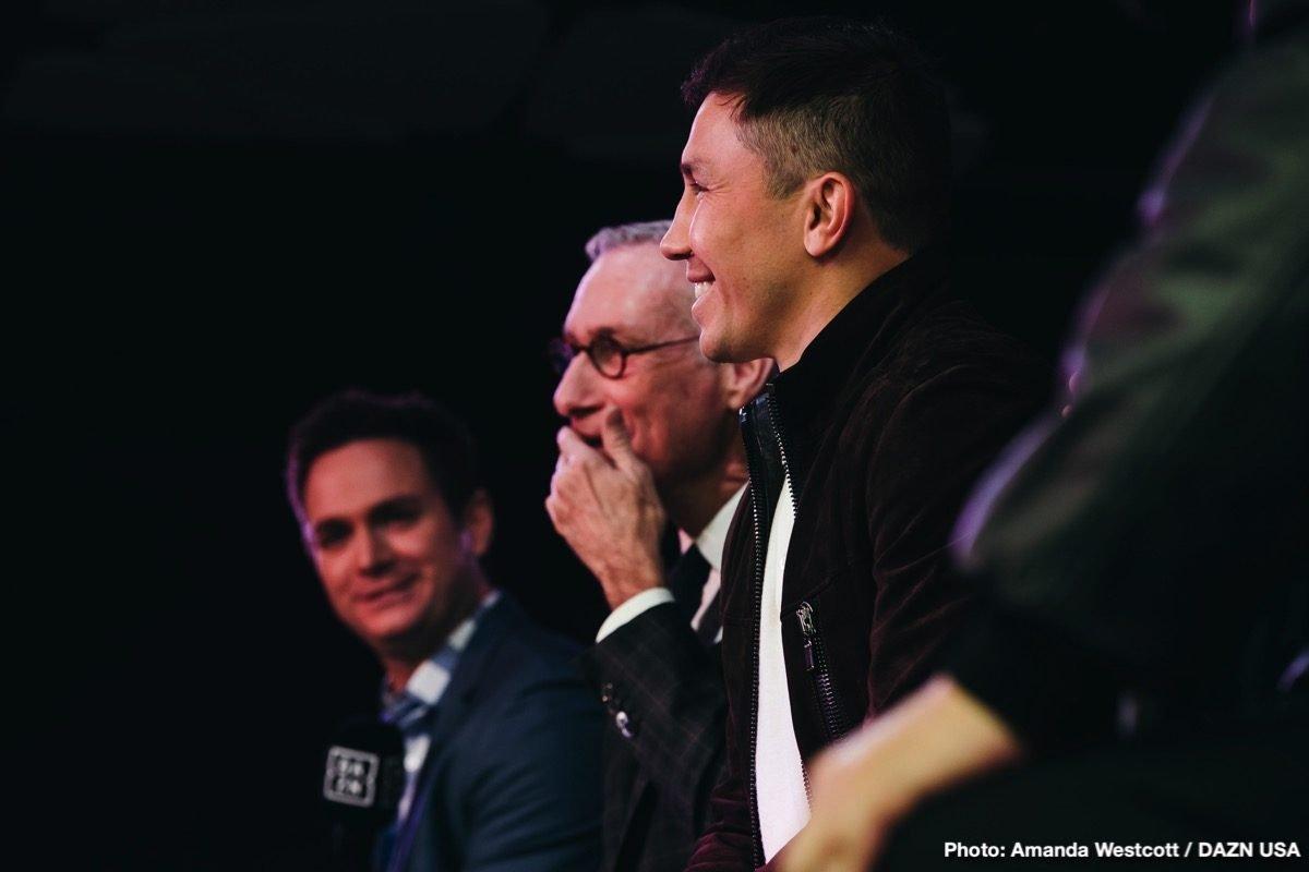 DAZN Gennady Golovkin Boxing News
