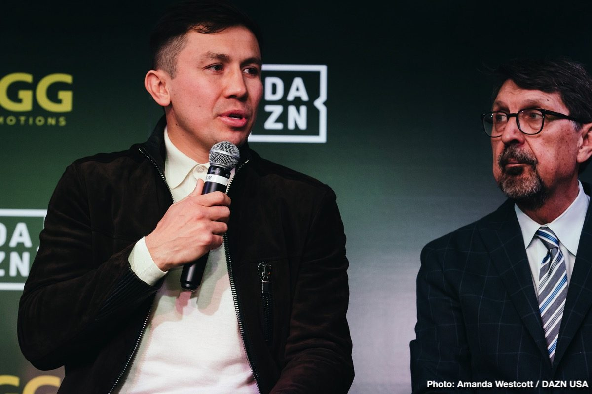 4b10cbd47e5778 LA Presser Quotes  DAZN Signs Gennady Golovkin For Remainder Of Career