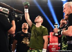 """Doudou Ngumbu, Ray Robinson - Oleksandr """"The Nail"""" Gvozdyk nailed down the first defense of his WBC light heavyweight world title, knocking out Doudou Ngumbu in the fifth round."""