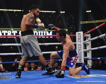 David Benavidez, J'Leon Love, Luis Nery - Unbeaten former 168-pound world champion David Benavidez (21-0, 18 KOs) dominated J'Leon Love (24-3-1, 13 KOs) to earn a second-round stoppage in their super middleweight matchup.