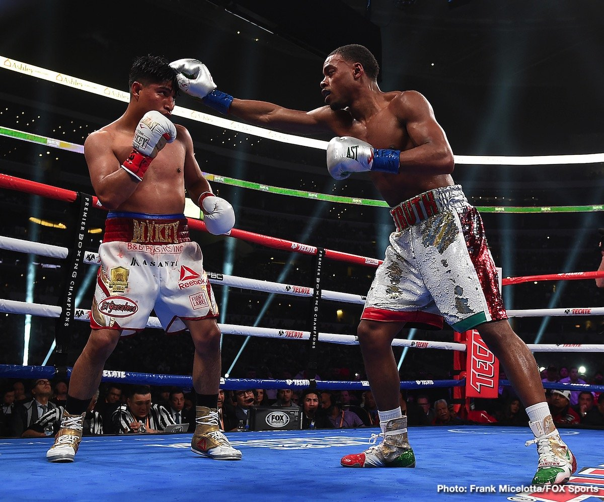 Errol Spence Jr., Manny Pacquiao, Mikey Garcia - Errol Spence Jr is finally starting to realize that Manny Pacquiao never intended to fight him when he sat in the audience for his fight against Mikey Garcia in March of 2019 in Arlington, Texas.
