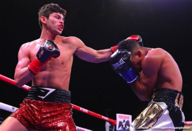 Ryan Garcia - Angel Acosta (20-1, 19 KOs) of San Juan, Puerto Rico successfully defended his WBO Light Flyweight World Title against Ganigan Lopez (35-9-1, 19 KOs) of Carolina, Puerto Rico via knockout in the eighth round of a fight originally scheduled for twelve rounds. The fight was stopped at 1:55 of the aforementioned round.