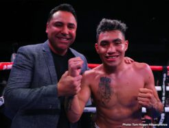 Ryan Garcia - In front of a sold-out crowd at Fantasy Springs Resort & Casino on Saturday night, Ryan Garcia dazzled fans and furthered his unblemished record by defeating Jose Lopez via stoppage at the end of Round 2. In the co-main event, Angel Acosta dropped Ganigan Lopez by knockout in Round 8 to successfully defend his WBO Light Flyweight Title. Additionally, Rocky Hernandez took down Ibrahim Class in a second round knockout, while top Irish prospect Aaron McKenna won by unanimous decision against Loretto Olivas to retain his undefeated record.