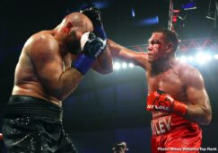 Bogdan Dinu, Jessie Magdaleno, Kubrat Pulev - Kubrat Pulev wanted to send a resounding message to the big names of the heavyweight division, and he did so by scoring an emphatic knockout victory in front of a sold-out crowd at The Hangar.