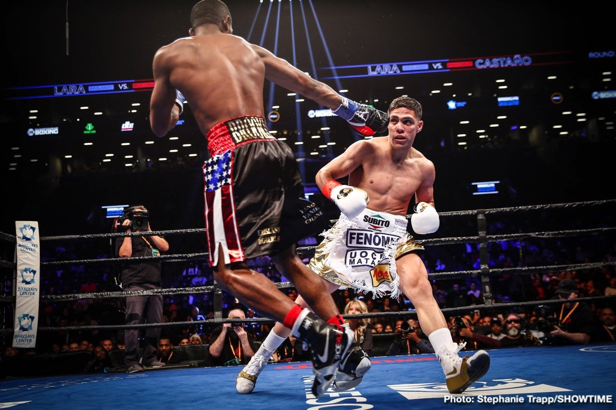 Brian Castano - In an exciting fight from start to finish, WBA 'regular' junior middleweight champion Brian Castano (15-0-1, 11 KOs) fought to a 12 round draw against former WBA Super World 154 lb champion Erislandy Lara (25-3-3, 14 KOs) on Saturday night on Premier Boxing Champions on SHOWTIME at the Barclays Center in Brooklyn, New York.
