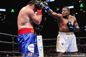 Christian Hammer - Luis Ortiz took a few shots, he was backed up on occasion and he bled from the nose, yet the 39 year old (officially, some say Ortiz is older) pounded out a wide, near shut-out decision win over a game and tough Christian Hammer last night. Winning by scores of 100-90, 99-91 and 99-91 Ortiz improved to 31-1(26). Hammer, who has been in with other big names such as Tyson Fury and David Price, fell to 24-6(14).