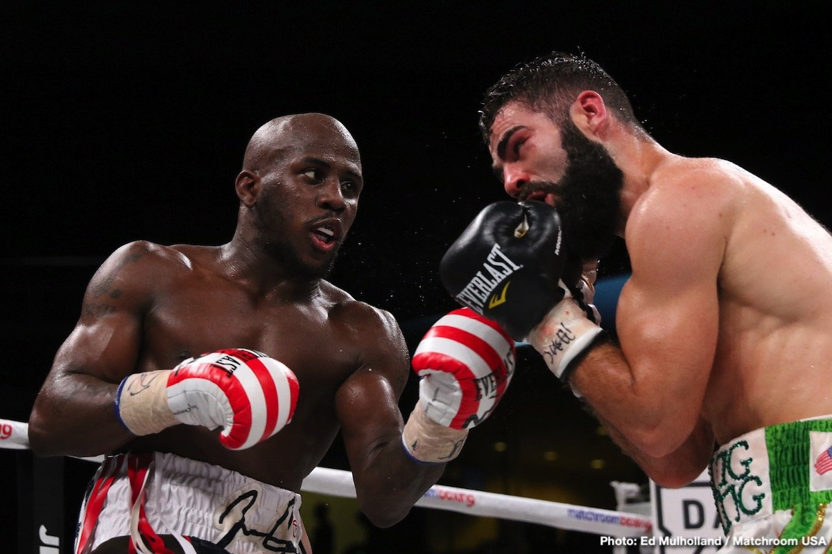 Jono Carroll - IBF super featherweight champion Tevin Farmer (29-4-1, 6 KOs) retained his title with a 12 round unanimous decision win over his tough as nails opponent Jono Carroll (16-1-1, 3 KOs) on Friday night on DAZN at the Liacouras Center, in Philadelphia, PA. These two warriors were like punching machines with their high volume offenses.