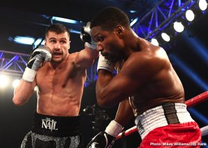 """Ray Robinson - Oleksandr """"The Nail"""" Gvozdyk nailed down the first defense of his WBC light heavyweight world title, knocking out Doudou Ngumbu in the fifth round."""