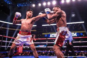 Mikey Garcia - Despite the fact that he took a pretty stiff beating from the too big Errol Spence back in March, Mikey Garcia, 39-1(30) seems intent on sticking around at welterweight. Garcia, who against Spence went for his fifth world title in as many weight divisions, is reportedly close to agreeing terms to face former WBC 147 pound champ Danny Garcia next.