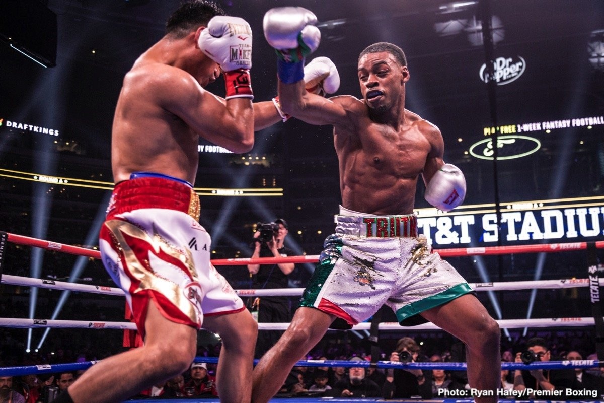 Errol Spence Jr. - Errol Spence predicted a massacre ahead of his big fight with Mikey Garcia and he was about as good as his word. When last night's clash of unbeatens was first announced, the general reaction was that Garcia, in attempting to win his fifth world title in as many weight divisions, was biting off way more than he could possibly chew – and so it turned out to be the case.