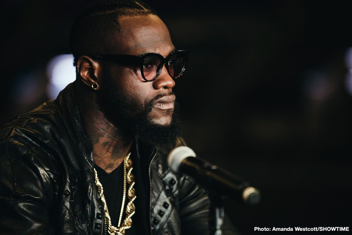 Deontay Wilder Dominic Breazeale Boxing Interviews Boxing News Top Stories Boxing