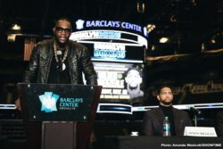"Deontay Wilder, Dominic Breazeale - WBC Heavyweight Champion Deontay ""The Bronze Bomber"" Wilder and mandatory challenger Dominic ""Trouble"" Breazeale went face-to-face Tuesday at a heated press conference to officially announce their heavyweight title showdown taking place Saturday, May 18 live on SHOWTIME from Barclays Center, the home of BROOKLYN BOXING™ and presented by Premier Boxing Champions."