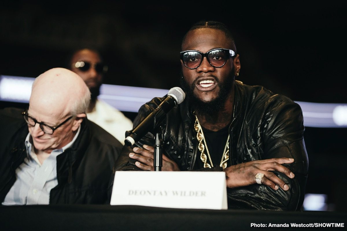 Deontay Wilder Frank Warren Tyson Fury Boxing News