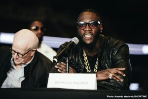 Dominic Breazeale - February 25th 2017: Just what went down in that hotel lobby in Birmingham, Alabama? What we do know is this: Deontay Wilder had won his fight against Gerald Washington, successfully retaining his WBC heavyweight title for the fifth time, and Dominic Breazeale had beaten Izuagbe Ugonoh in a thriller on the same card. Then all hell broke loose in the hotel lobby and Wilder and Breazeale have genuinely disliked one another since.