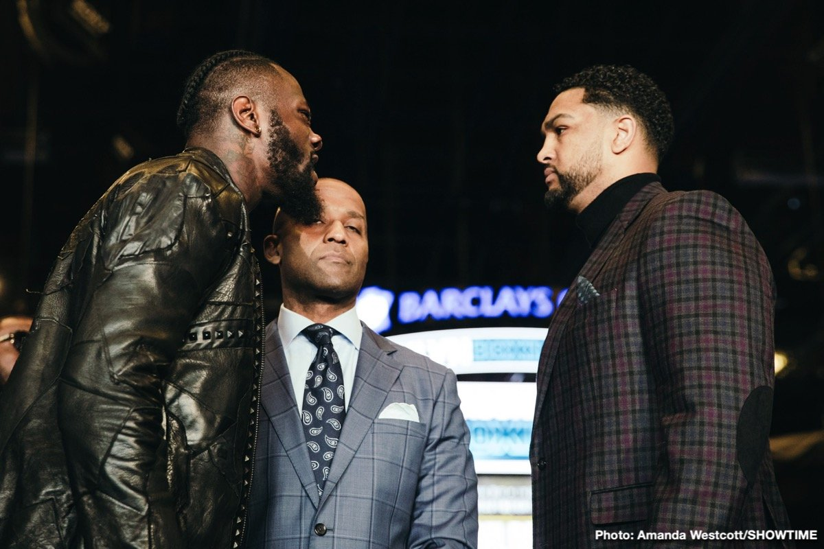 Deontay Wilder, Dominic Breazeale - Though fight fans are not exactly at anything that could be described as a fever pitch ahead of the May 18 fight between WBC heavyweight champ Deontay Wilder and challenger Dominic Breazeale, it cannot be denied how there is a genuine element of bad blood attached to the fight; nor can it be denied that things, words, got quite nasty at the official presser to announce the fight last week.