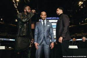 "Dominic Breazeale - WBC heavyweight champ Deontay Wilder seems to have absolutely no worries going into this Saturday night's title defence against mandatory challenger Dominic Breazeale. In fact, Wilder, 40-0-1(39) has referred to Breazeale, 20-1(18) as a ""nuisance"" that stands in his way before bigger and better fights."