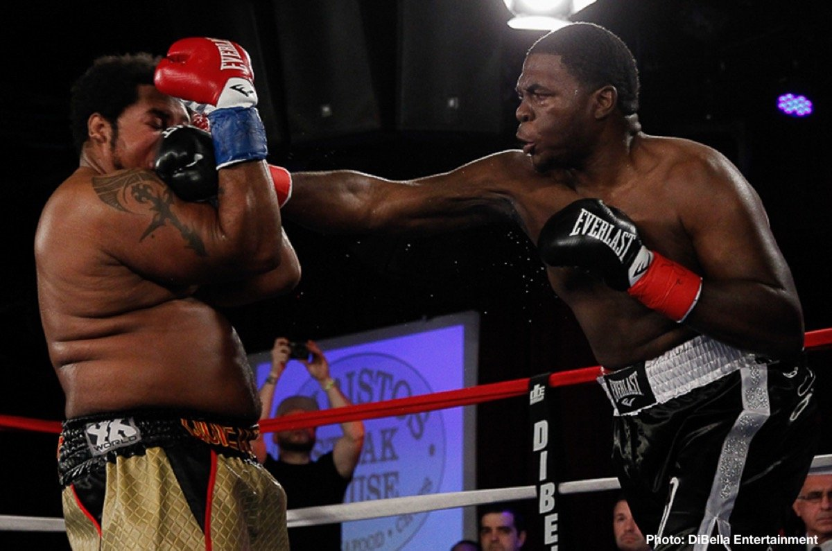 """- There's always room in the division for more talented heavyweights, especially big guys who have fast hands and can bang. And last night in Columbus, Ohio, 26 year old Stephan Shaw scored a noteworthy win, one that will have made those fans who saw it want to see more. """"Big Shot,"""" as the 6'4"""" Shaw is known, crushed Donovan Dennis in the third-round. Uncorking his hefty left hand, Shaw sent Dennis down hard twice, finishing him at the 2:08 mark of round-three."""