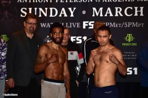 Lamont Peterson - Lamont Peterson faces Sergey Lipinets in a 50-50 squabble in the main event for the PBC on FS1. From the betting odds to the style of matchup this bout should deliver fight fans competitiveness on a Sunday night. For Peterson it could very likely be a last opportunity to get a boost in rating at the welterweight division. The risk/reward factor for Lipinets is scoring a solid victory to re-energize his career or face an uphill climb losing two of his last 3 outings.