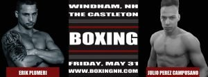 - Boston Boxing Promotions has announced another fight to take place on Friday May 31, 2019 at the Castleton Banquet and Conference Center in Windham, New Hampshire as Leomonster, Massachusetts' Ryan Dibartolomeo returns to take on the pro-debuting Llamar Kelly of Saco, Maine in a four-round welterweight fight.