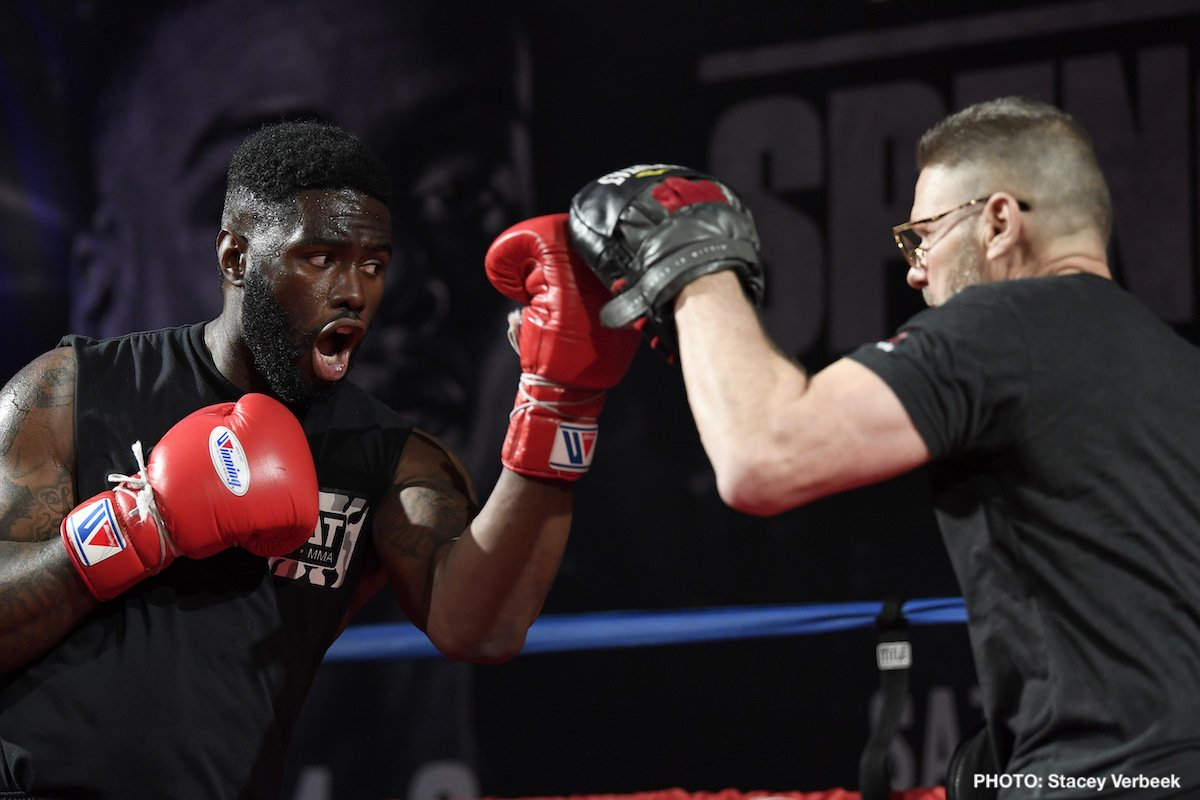 """Exclusive interview by James Slater - 31 year old Jean Pierre Augustin says he will deliver a """"big surprise"""" in his March 16th fight with established heavyweight contender Chris Arreola. The Haitian-born southpaw who lives in Boston has a good-looking 17-0-1(12) pro record but, as he says himself, Augustin – who may be familiar to film fans, as he has appeared in three movies - is an """"unknown"""" fighter."""