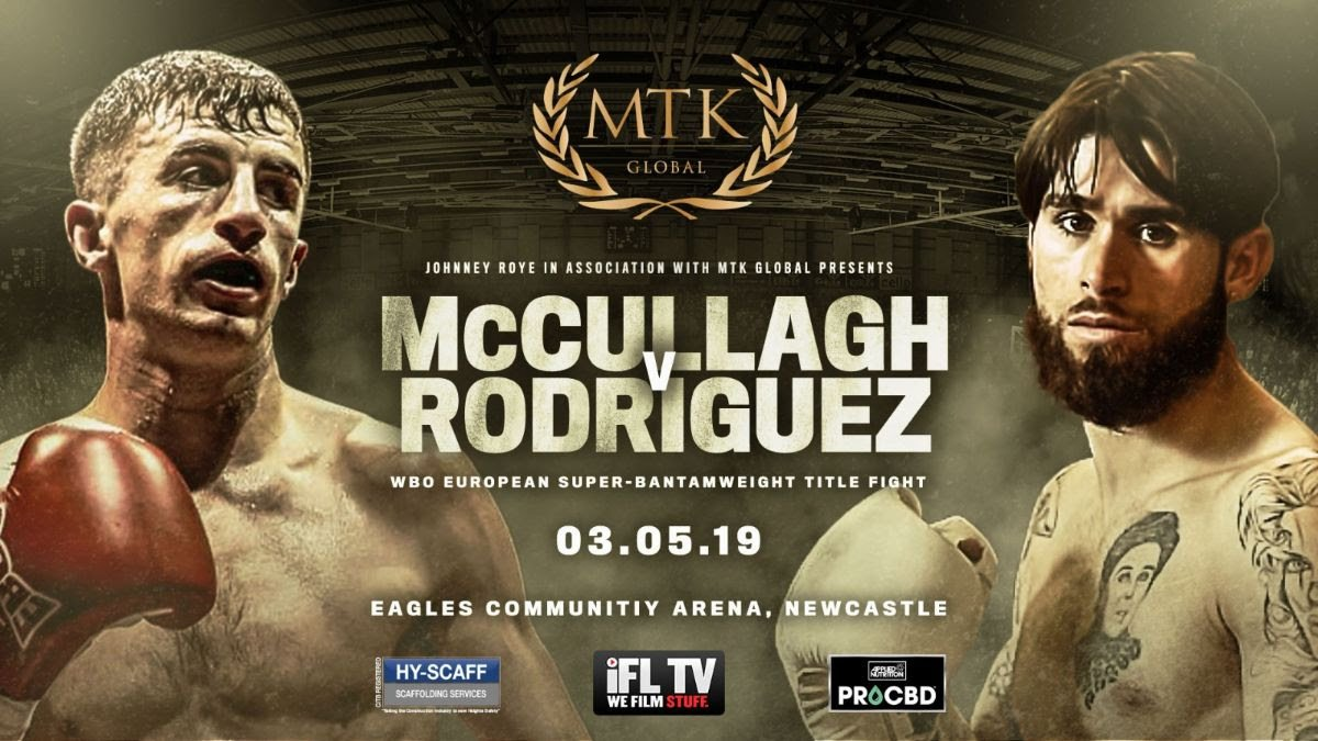 Tyrone McCullagh - Tyrone McCullagh will make the maiden defence of his WBO European super-bantamweight crown against Alvaro Rodriguez in Newcastle on May 3.
