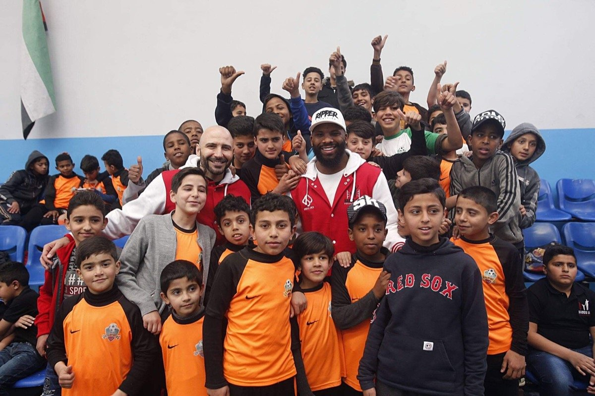 Badou Jack - Two-Division World Champion, philanthropist and entrepreneur Badou Jack made good on his promise to give back to refugee children abroad as he visited the Baqaa Refugee Camp in Jordan Saturday as part of his overall mission to give children around the globe a fighting chance at life through his Badou Jack Foundation.