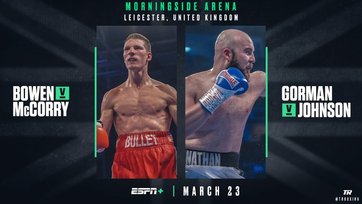 Nathan Gorman, Sam Bowen - Two of Great Britain's most promising young prospects will be showcased live in the United States on Saturday afternoon