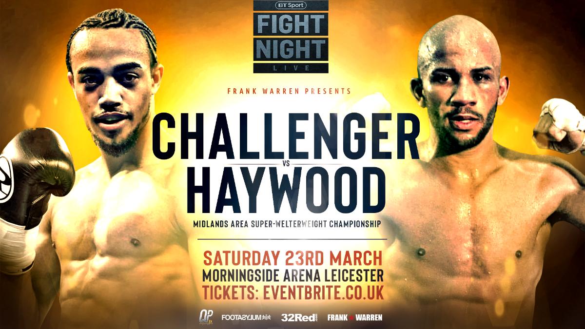 CJ Challenger Kyle Haywood British Boxing Press Room
